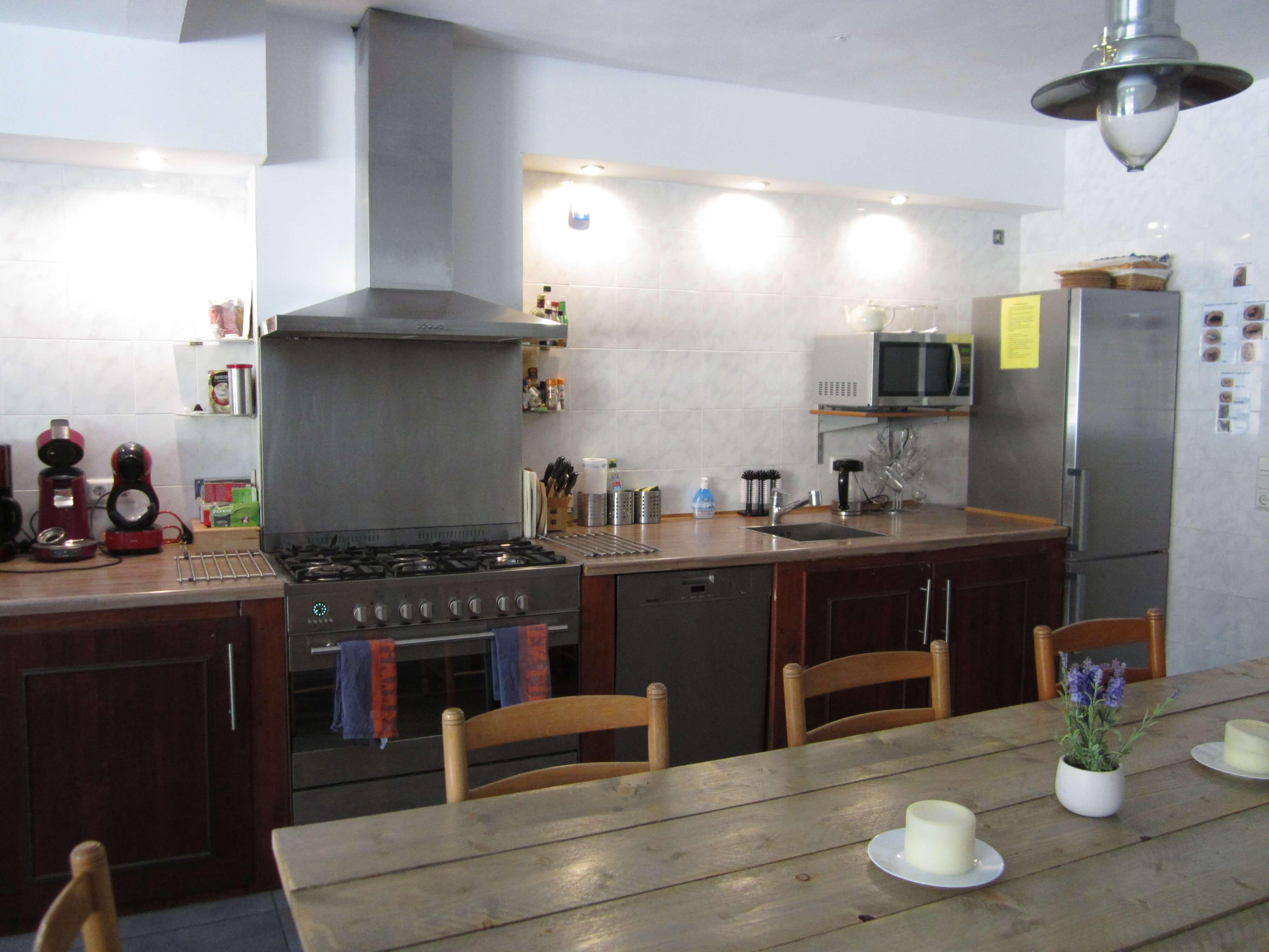Eine geräumige Küche
